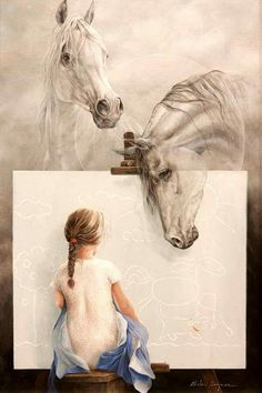 Kai Fine Art is an art website, shows painting and illustration works all over the world. Art And Illustration, Painting Illustrations, Arte Equina, Art Amour, Instalation Art, Spanish Artists, Wow Art, Equine Art, Horse Art