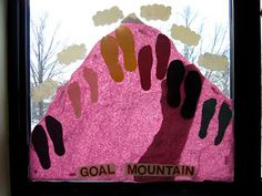 Goal Mountain-helping students to visualize what they need to do to reach their goals(mm)