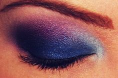 Navy Blue and Pink Eyeshadow
