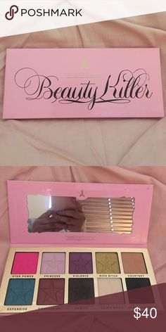 Jeffree Star - Beauty Killer Palette Used maybe once. Price is firm Jeffree Star Makeup Eyeshadow