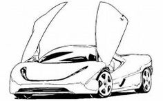 cowtown corvette coloring page