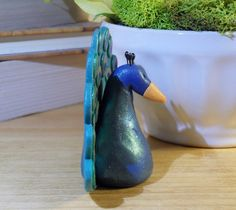 polymer clay peacock by SMarrtCreations on Etsy