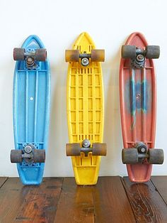 Vintage 1970's Skateboards mine was blue with red wheels!  And boy I thought I was something on that thing!