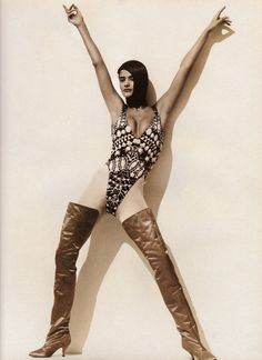 "veroushka: "" Helena Christensen ""Inside Out"" Vogue UK, February 1991 Photos by Herb Ritts "" 90s Fashion, Fashion Boots, Fashion Models, Fashion Beauty, Girl Fashion, Fashion Glamour, Fashion Editor, Richard Gere, Olivia Newton John"