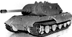 E-100 with Porsche's Maus turret. These were super heavy tanks, designed to rule the battlefields with their 15-cm guns and up to 25-cm armour.