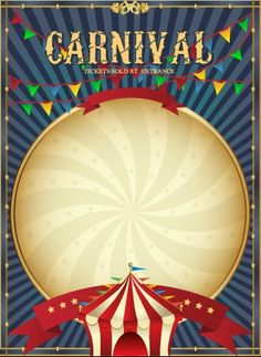 Vintage style circus poster design vector 02