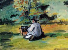 Paul Cézanne - A Painter at Work, 1874-75, oil on canvas, 24 x 34 cm