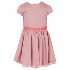 Rose Dress with Floral Under-Skirt