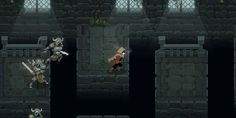 A short platforming sequence in Wizard of Legend