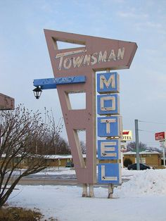Townsman Motel -    At the intersection of US54 and US75 highways in Yates Center, Kansas.