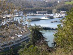 Plérin-sur-Mer, Port du Légué. Vue générale : du bassin-déversoir au bassin n° 2. Cotes d'Armor
