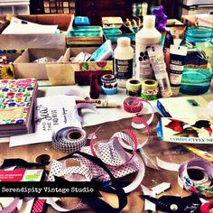 Creative Chaos by Kimberly Jones via serendipityvintagestudio.blogspot.com
