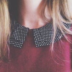 Peter Pan collar again!! Love those two colors together