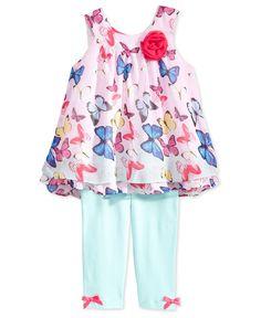 Blueberi Boulevard Little Girls  2-Piece Butterfly Tunic  amp  Leggings Set  Back To 829de460e