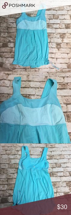 LULULEMON Mint green robins Egg Blue top 2 Great top conch bottom gorgeous color! Worn once lululemon athletica Tops Tank Tops