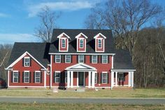 James Hardie siding in Traditional Red