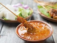 Lazy to travel far to get good satay? Try making your own version in the comfort of your own kitchen with our video recipe to get delicious pork belly satay! Chutney Recipes, Sauce Recipes, Glory Bowl Dressing, Profile By Sanford, Salsa Dulce, Peanut Sauce Recipe, Specialty Foods, Comfort Food, Pork Belly