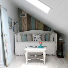 The before and after photos of this attic renovation are dramatic! (via Perfectly Imperfect)