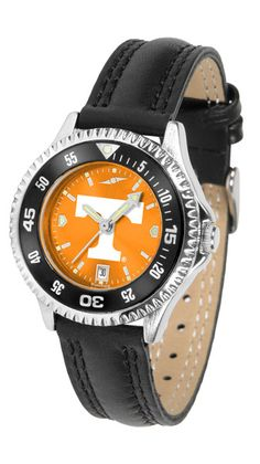 Tennessee Volunteers Ladies Competitor Watch With AnoChome Dial, Color Bezel