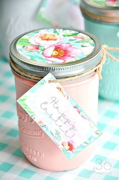 Mason jars handmade gift idea easter gift and craft mason jars and handmade gift idea perfect for mothers day easter birthday gifts and more negle Gallery