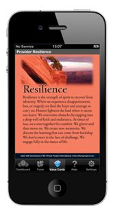 Physician Heal Thyself: New App Promotes Provider Resilience, Mar 27, 2013 http://www.t2health.org/blogs/mobile-health/physician-heal-thyself-new-app-promotes-provider-resilience#