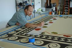 designs for painting floors | Gracewood Design » Historic and Custom Floorcloths » Our Services