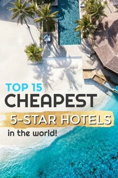 luxury hotel Top 15 Cheapest 5 Star Luxury Hotels in the WORLD. The most affordable luxury resorts and hotels on the planet! 5 Star Resorts, Hotels And Resorts, Best Hotels, Luxury Resorts, Inclusive Resorts, Unique Hotels, Beautiful Hotels, Affordable Hotels, Beautiful Places