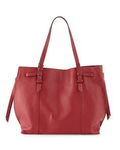 528276522dd2 Westport Corporation Olivia Leather Drawstring Tote Bag