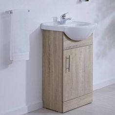 the milano classic oak vanity unit is a great option for a cloakroom suite - Ensemble Vanite Armoire