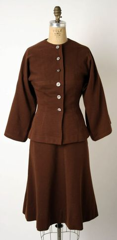 Suit Claire McCardell (American) ca. 1942 wool, cotton