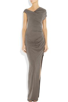 HELMUT LANG  Torrent brushed-jersey maxi dress