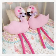 Pink Flamingo Plushie / Love From Hetty & Dave