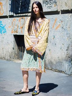 Style Notes: You know the kind of hippy garms you pick up on your gap year? Those are now considered appropriate dresses for day, so go on, dig yours out.