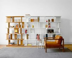 biblioteca - moderna -combinable - modular - green proyectos