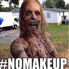 Hahahah.. A The Walking Dead Zombie.. ha..