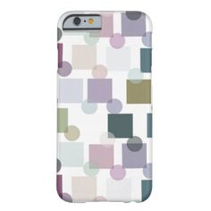 Cute Light Pastel Retro Squares Polka Dots Pattern iPhone 6 Case