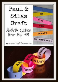 Paul & Silas Craft - AWANA Cubbies Bear Hug #19 - Printable Included - Meaningful Mama
