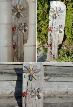 20. Driftwood Stone Art