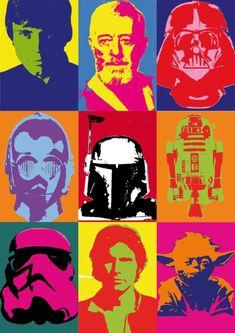 Warhol Style Star Wars
