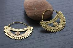 Brass Tribal Earrings - African Tribal Jewelry
