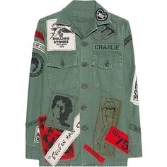 MadeWorn Stones Exile On Main St Army // Denim jacket with band patches
