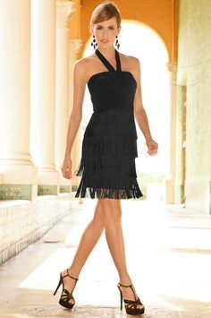 Sensuous fringe dress - Boston Proper Cute blend of old and new - lots of size variation and on sale!