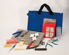 Professional Pearl and Bead Stringing Kit w/ DVD Beading . Jewelry Making Tools. This is what you'll need to make beaded bracelets and more. Perfect for beginner jewelry makers.