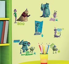 monster university wall decals | ... Disney PIXAR Monsters INC. Mike Sulley Boo. more RMK2010scs wall decal