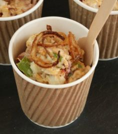 Chipotle Potato Salad with Crispy Shallots