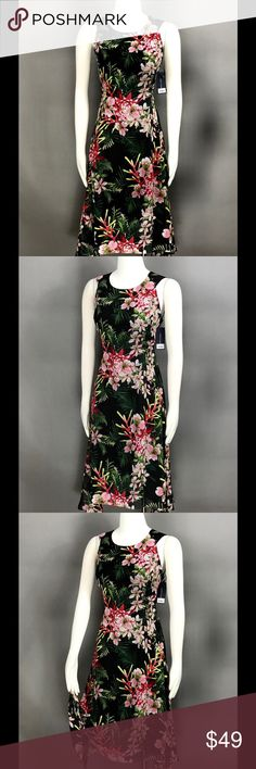 Tommy Hilfiger Multi Dress Sz 6 Chiffon Floral NEW Tommy Hilfiger Charcoal Black Pink Multi Dress Sz 6 Chiffon Floral Handkerchief Hem Sleeveless $134 NEW Tommy Hilfiger Dresses Midi