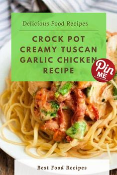 CROCK POT CREAMY TUSCAN GARLIC CHICKEN RECIPE  Crock pot creamy tuscan chicken is so wealthy and creamy that you may now not agree with how smooth it's far. The crock pot does all the paintings and you can enjoy this meal even on busy weeknights. It seems so super and the flavors genuinely come collectively after being sluggish cooked all day.   #easycrockpotmeals #crockpotchicken #crockpotchickenrecipes #BestFood Tuscan Garlic Chicken, Garlic Chicken Recipes, Good Food, Yummy Food, Crockpot Recipes, Paintings, Crock Pot, Meals, Smooth