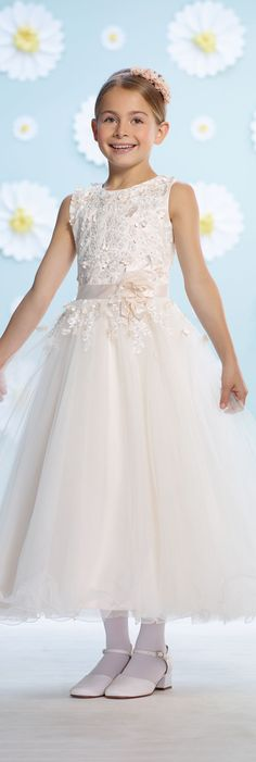 Joan Calabrese for Mon Cheri - Style No. 116364 #flowergirldresses