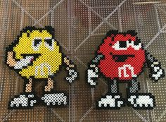 M & M perler beads.