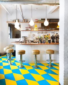 A-OK Coffee Shop, Madison, WI, a little slice of happiness in the form of a coffee shop...those FLOORS!!  #ispytravels #ispycaffeineaddict